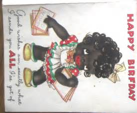 Vintage black happy birfday coutts greeting card card