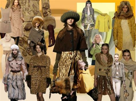 2007 Fashion Trends Nersels Designer Trendy Gold Jewelry by Trends Fashion Mood Boards Colours Tone Collages Autumn