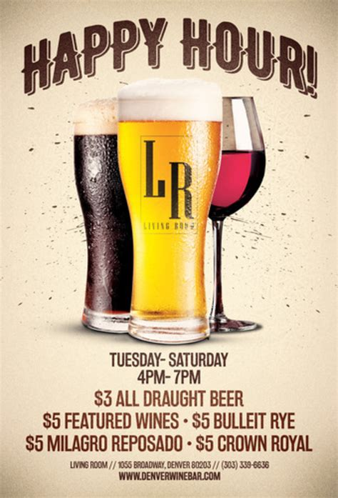 The Living Room Tickets by Happy Hour At The Living Room The Living Room Denver