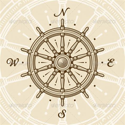 vintage compass rose tattoo 25 best ideas about ship wheel on