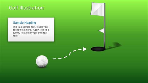 golf powerpoint template golf shapes for powerpoint slidemodel