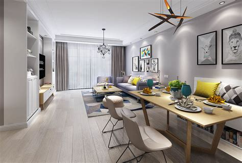 living room  dining room  model donovan cgtrader
