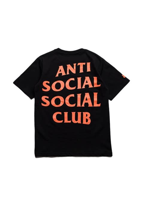 Jaket Zipper Hoodie Sweater Anti Social Club Paranoid Merah undefeated anti social social club paranoid t shirt black