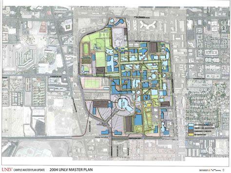 unlv map maps drawings unlv cus master plan of nevada las vegas