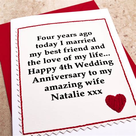 Wedding Anniversary Gift To My Husband by 4th Wedding Anniversary Gifts Uk Gift Ftempo