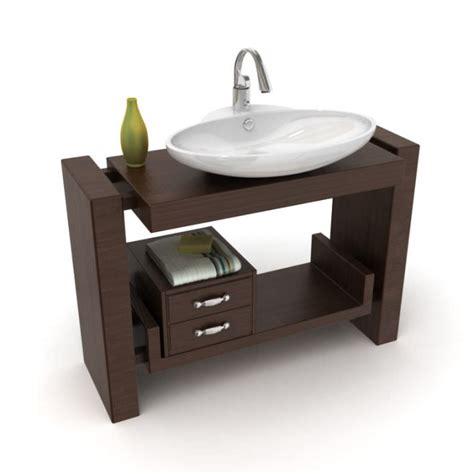 bathroom model furniture bathroom sink 3d model cgtrader com