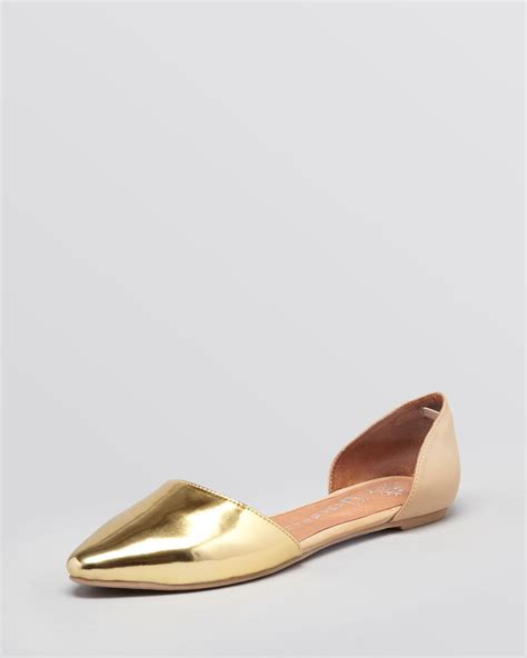 jeffrey cbell shoes flats lyst jeffrey cbell pointed toe dorsay flats in