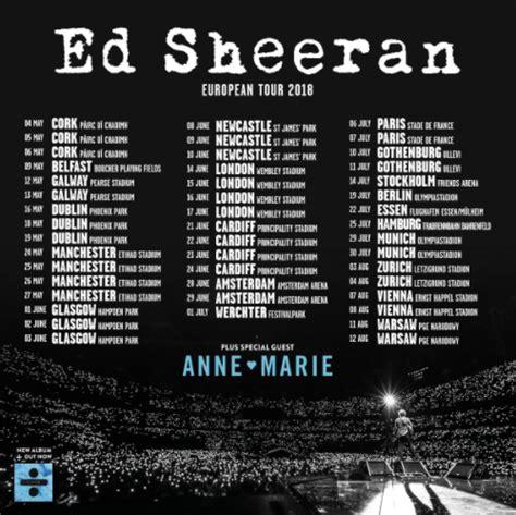 ed sheeran concert 2018 here s who will support ed sheeran at his irish gigs vip