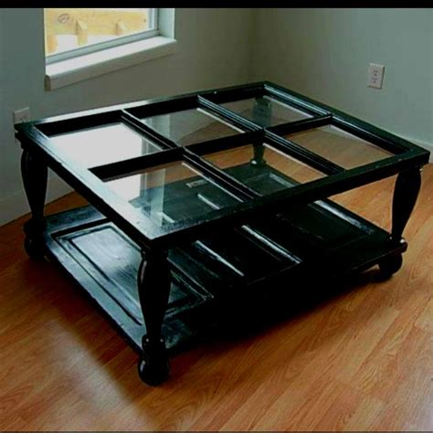 Windows Coffee Table Coffee Table Made From Window And Door Home Style Pinterest Window House And Coffee