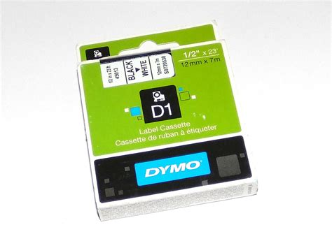 dymo label cassette dymo cassette for labelmanager label maker d1 12mm x