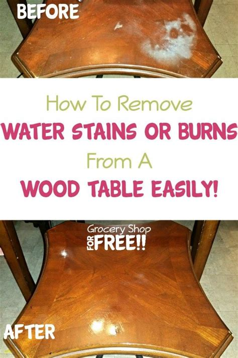how to remove couch stains how to remove water stains or burns from a wood table