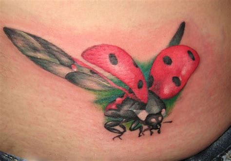 flying ladybug tattoo designs 31 dainty ladybug tattoos creativefan