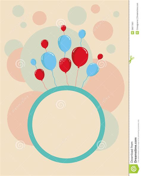 design birthday card template happy birthday card design template stock illustration