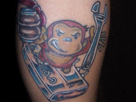 grease tattoo baby grease monkey tattooshunt