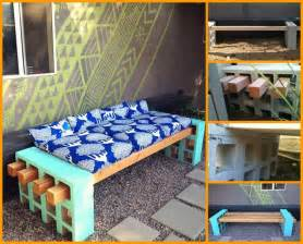 cinder block furniture backyard modern diy patio furniture ideas