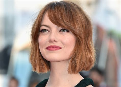 how to get emma stone short hair cutting steps emma stone debuts a gorgeous bob haircut