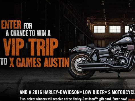 Harley Davidson Giveaway - the harley davidson s x games sweepstakes sweepstakes fanatics
