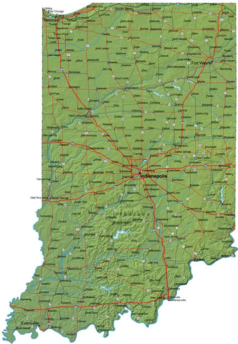 indiana road map detailed indiana road map indiana mappery