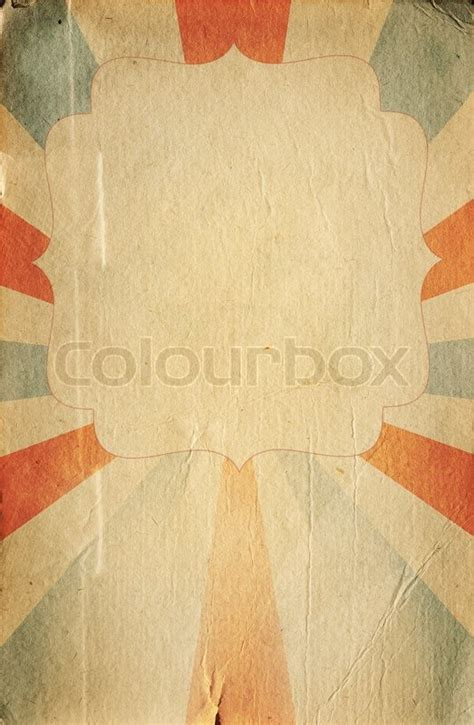 retro circus style poster template  stock image