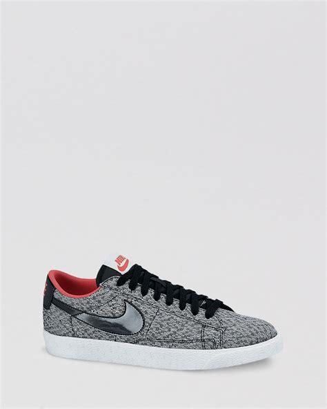 nike low sneakers nike flat lace up low top sneakers womens blazer in black