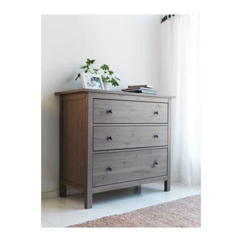 hemnes 3 drawer chest solid wood a hardwearing