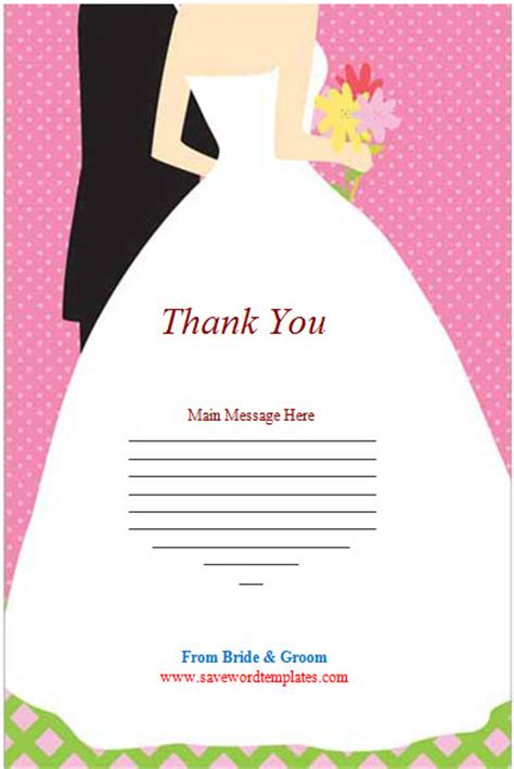 wedding thank you cards templates thank you cards