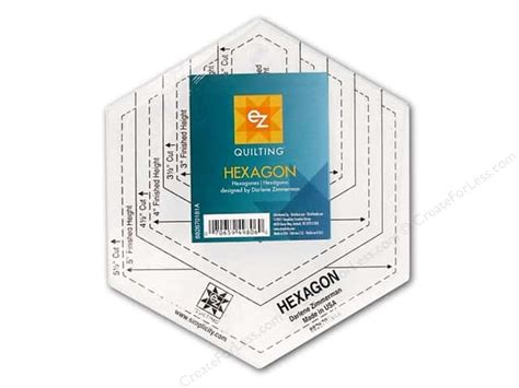 ez quilting templates ez quilting hexagon acrylic template createforless