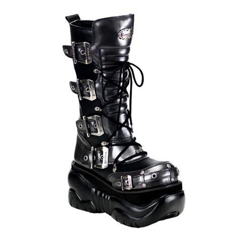mens demonia boots demonia boxer 205 black gray mens cyber platform