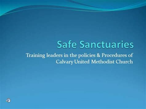 Safe Sanctuaries Training Authorstream United Methodist Church Powerpoint Templates