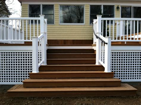 White Plastic Trellis Panels St Louis Decks Getting The Look You Want With Skirting