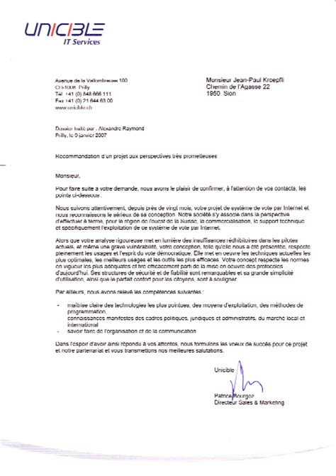 Exemple De Lettre De Recommandation Commercial Modele Lettre De Recommandation Marketing Document