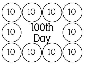 100 day snack mat 100th day snack mat www imagenesmy