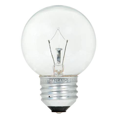 Ac 3 4 Pk Watt sylvania 40 watt g16 5 incandescent light bulb 2 pack 10594 the home depot