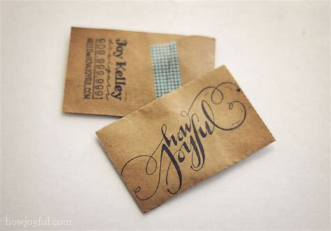 Craft Paper And Card - how joyful howjoyful business cards
