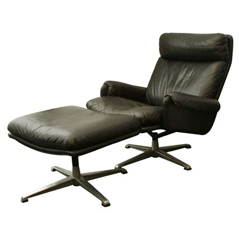 scandinavian swivel lounge chair and ottoman for sale at