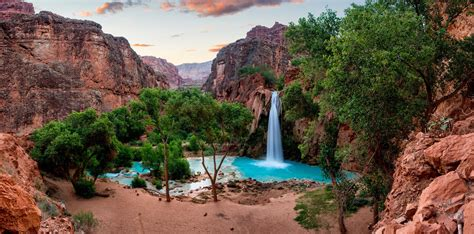 beautiful desert oasis waterfall wallpapers
