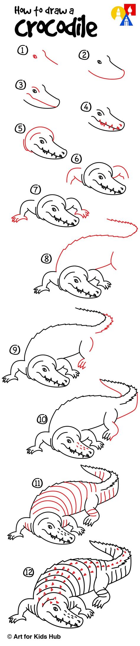 How To Draw A Realistic Crocodile crocodile drawing for