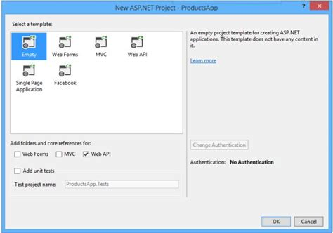 web api tutorial visual studio 2013 asp net can i add the web api folders to an existing