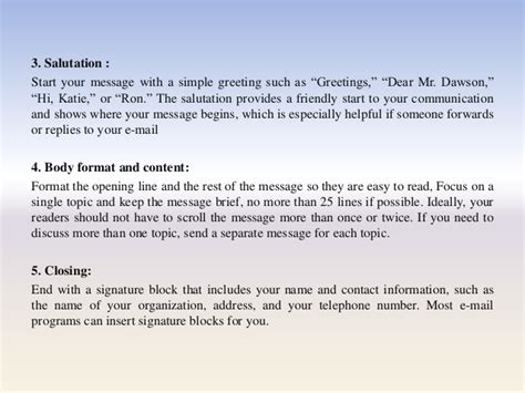 email opening greeting professional e mail presentation