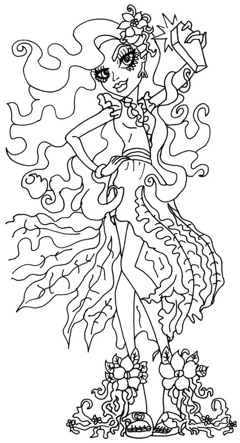monster high gooliope coloring pages free printable monster high coloring pages amanita
