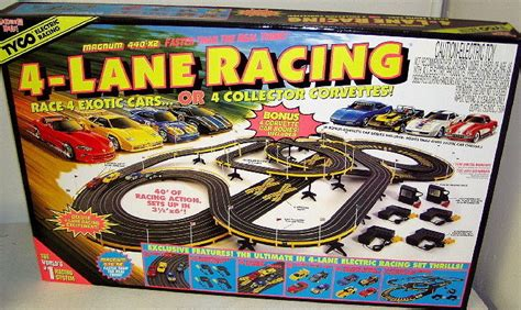 Mattel Tyco Hot Wheels 4 Lane HO Scale Slot Car Race Track