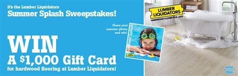 Lumber Liquidators Sweepstakes 2017 - lumber liquidators summer splash sweepstakes