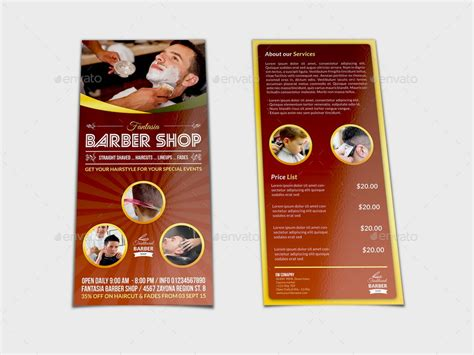 Barber Shop Flyer Dl Size Template By Owpictures Graphicriver Dl Size Flyer Template