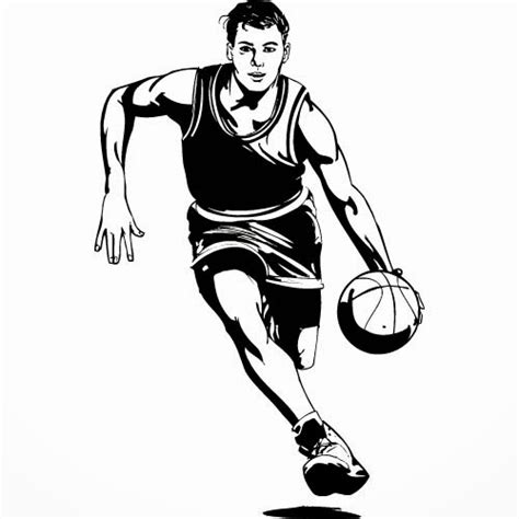 basketball clipart black and white basketball player clipart black and white clipart panda