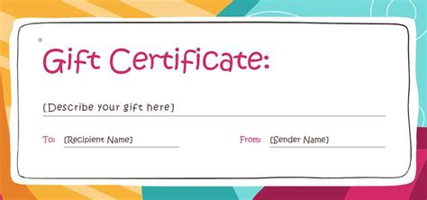 make up gift card template 173 free gift certificate templates you can customize