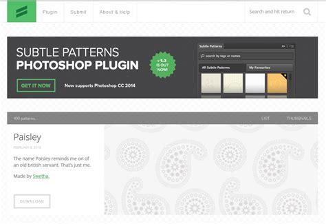 subtle patterns photoshop plugin download 6 sitios web donde conseguir texturas para tu sitio web