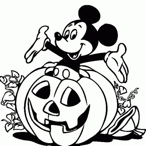 halloween color book pictures halloween coloring mickey pumpkin halloween coloring