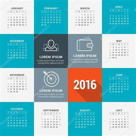 design letters kalender 2016 vektor design vorlage kalender 2016 stockvektor
