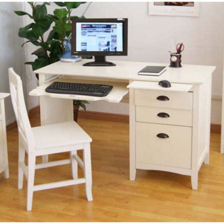 Maine White Computer Desk And Chair Set Furniture123 White Desk And Chair Set