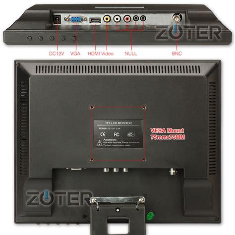 Monitor Lcd Cctv zoter 12 quot inch hdmi bnc vga lcd color monitor for dvr cctv security ebay